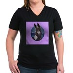 Donkey - Jack Ass Women's V-Neck Dark T-Shirt