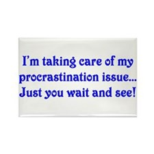 Procrastination Rectangle Magnet (100 pack)
