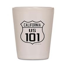 US Route 101 - California Shot Glass