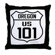 US Highway - Oregon 101 - old Throw Pillow