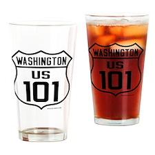 US Highway - Washington 101 - Drinking Glass