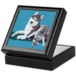 Siberian Husky and Puppy Keepsake Box