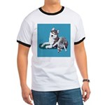 Siberian Husky and Puppy Ringer T