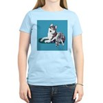 Siberian Husky and Puppy Women's Light T-Shirt
