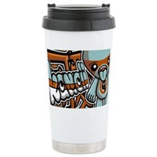 GreedyNoteCardKanji Ceramic Travel Mug