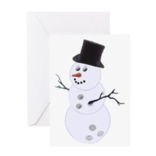 SnowBowlManIndiv Greeting Card