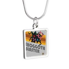 shoggothblaster2 Silver Square Necklace