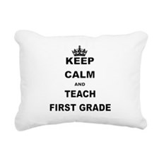 KEEP CALM AND TEACH FIRST GRADE Rectangular Canvas