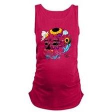 Sugar Skull Maternity Tank Top