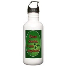 Dear Santa Oval Orname Water Bottle