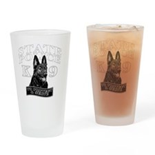 back state police design Drinking Glass
