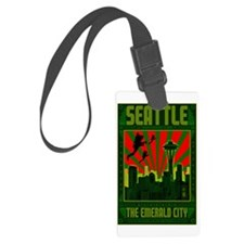 Seattle_The_Emerald_City_23x35_p Luggage Tag