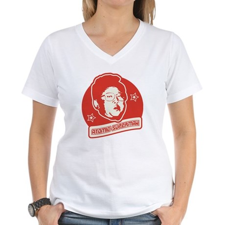 Crazy Kim Jong Women's V-Neck T-Shirt
