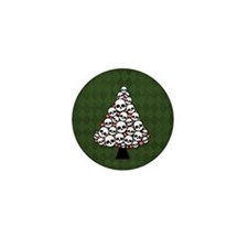 Holiday Skull Tree Mini Button