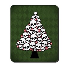 Holiday Skull Tree Mousepad