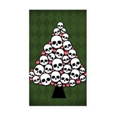 Holiday Skull Tree Rectangle Car Magnet