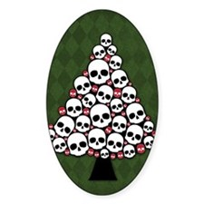 Holiday Skull Tree Decal