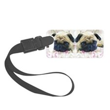 flip flops pug Luggage Tag