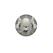 Viking Warrior Skull Mini Button