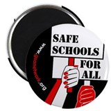 Safe Schools Button 2.25&quot; Magnet (100 pack)