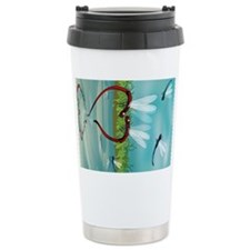 dragonfly Ceramic Travel Mug