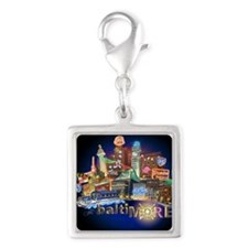 baltiMORE Silver Square Charm