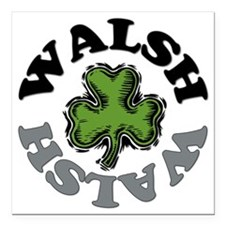 "WALSH Square Car Magnet 3"" x 3"""