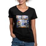 Disability Quote Women's V-Neck Dark T-Shirt