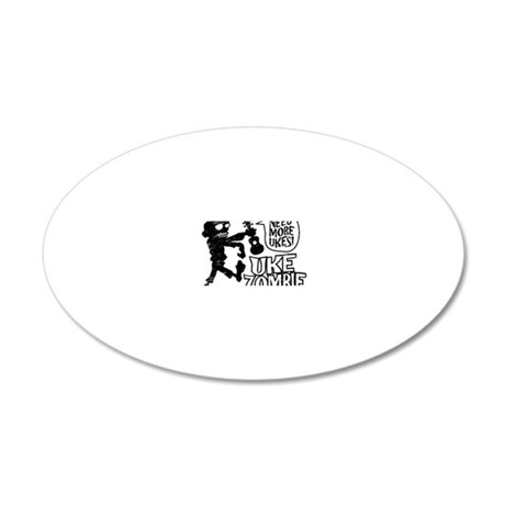 Uke Zombie 20x12 Oval Wall Decal