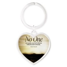 Consent Quote on Tile Coaster, Fram Heart Keychain