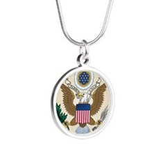 USA SEAL Silver Round Necklace