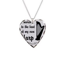 MarchHarp Necklace Heart Charm