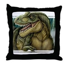 trex2_notext Throw Pillow
