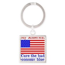 BuyAmerican Square Keychain
