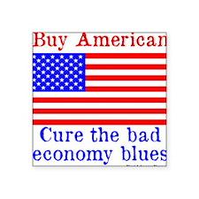 "BuyAmerican Square Sticker 3"" x 3"""