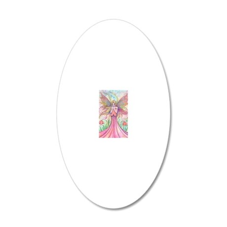 wildflower long 20x12 Oval Wall Decal