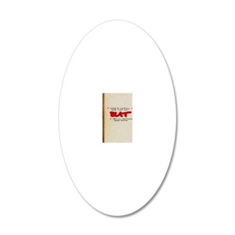 E-Book 20x12 Oval Wall Decal