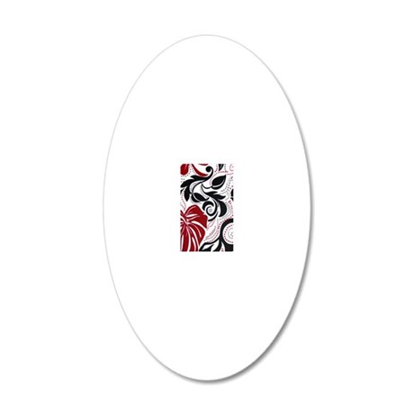maroonmonsteramodiphone3case 20x12 Oval Wall Decal