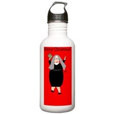 Nuns Christmas Water Bottle