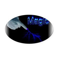 magic Oval Car Magnet