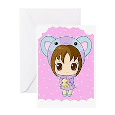 chibipanda Greeting Card