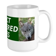 Protect Endangered Wolves CafePress fix Mug