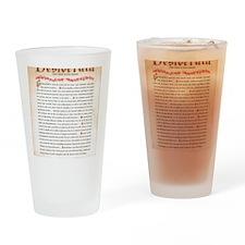 desiderata Drinking Glass