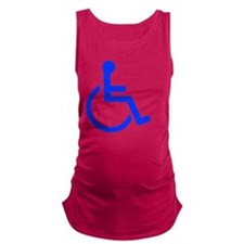 handicapped yard Maternity Tank Top