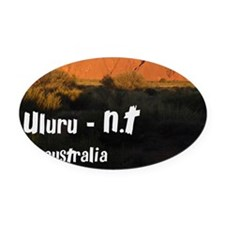uluru2 Oval Car Magnet