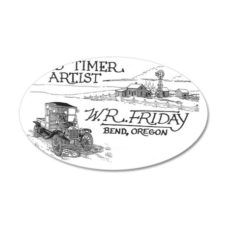 WRfridaylogogray300bcd 35x21 Oval Wall Decal