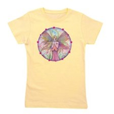 wildflower round with star border Girl's Tee