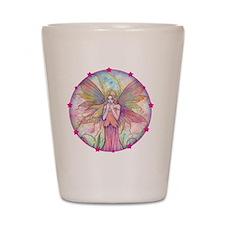 wildflower round with star border Shot Glass
