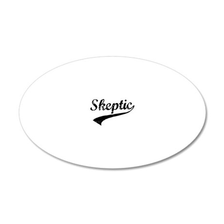 skeptic3 20x12 Oval Wall Decal