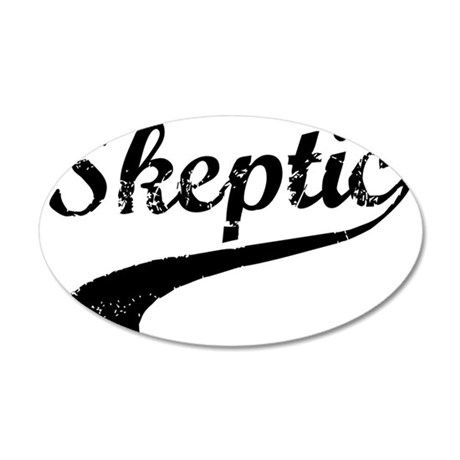 skeptic3 35x21 Oval Wall Decal
